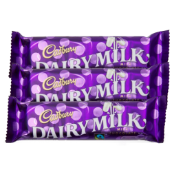 Cadbury Dairy Milk.3 Bars. 30g and 15g