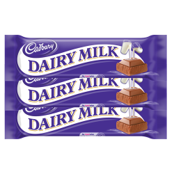 Cadbury Dairy Milk 3 bar, 30g. each​