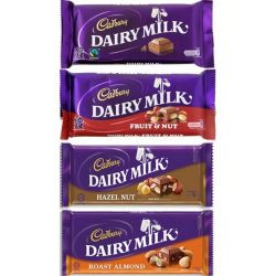 ​Cadbury Dairy Milk 4 Assorted Bars / 75g