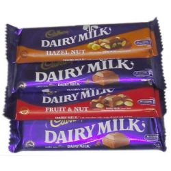 ​Cadbury Dairy Milk 4 Varieties 40g