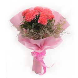 8pcs. Pink Carnations in a Bouquet