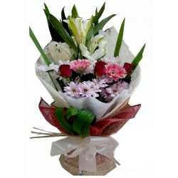 Mixed Flowers in Bouquet