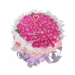 ​100 Pink Roses in Bouquet