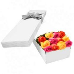 ​12 Mixed Color Roses in a Box