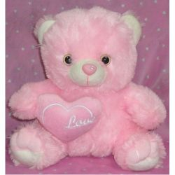 ​Regular Size Pink Teddy Bear with Love Pillow